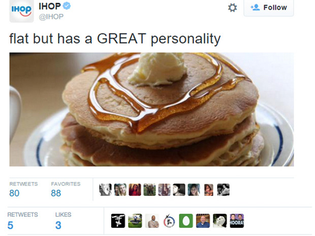 Many iHOP followers thought this tweet from the pancake was in poor taste (pun intended)