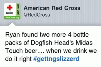 This tweet from the Red Cross account emphasizes the importance of having an experienced and discrete social media manager